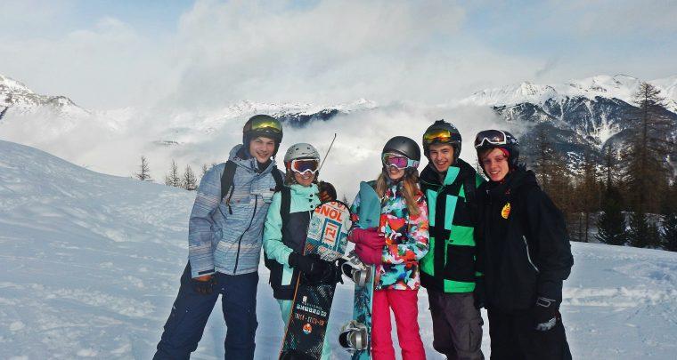 Snowboarden in de Alpen - Serre Chevalier