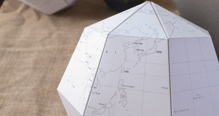 DIY: Papieren wereldbol