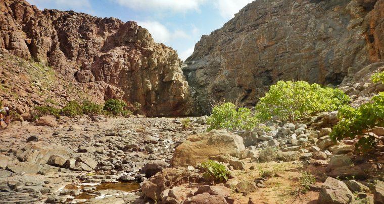Een tocht naar de waterval zonder water